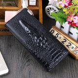 Maillusion Women Wallet Luxurious Genuine Leather 3D Alligator Ladies Hasp Coin Purse Crocodile Long Clutch Wallet Female oney-Wallet-Sour Grapes Online-Black-