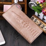 Maillusion Women Wallet Luxurious Genuine Leather 3D Alligator Ladies Hasp Coin Purse Crocodile Long Clutch Wallet Female oney-Wallet-Sour Grapes Online-Khaki-