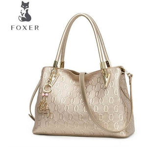 Genuine Leather Fashion Shoulder & Crossbody bag-Handbag-Sour Grapes Online-Gold-