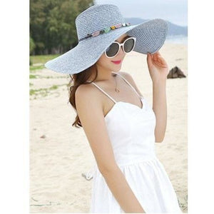 Hand Made Big Brim Straw Sun Hats for Women-Hat-Sour Grapes Online-