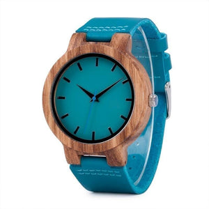 High Quality Bamboo Wood Quartz Analog Casual Women Watch-Watch-Sour Grapes Online-Blue-