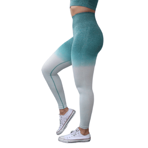 High Waisted Ombre Pants Seamless Leggings Yoga Pants For Women