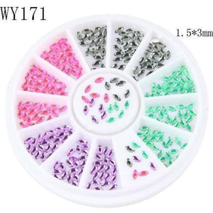 Horse Eyes Design Crystal Stone DIY Nail Art Glitter Charm Slices-Nails Styling-Sour Grapes Online-WY171-