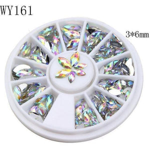 Horse Eyes Design Crystal Stone Nail Art DIY Glitter Charm Slices-Nails Styling-Sour Grapes Online-WY161-