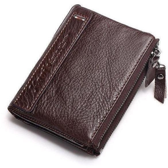KAVIS 2017 New Vintage Small Women Wallets Female Genuine Leather Womens Wallet Zipper Design With Coin Purse Pockets Mini Walet-Wallet-Sour Grapes Online-Coffee-