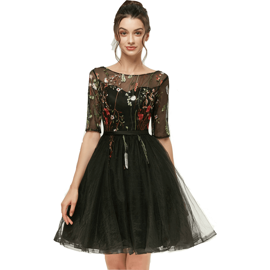 0afb10975357 Lace Up Homecoming Prom Semi Formal Short Princess Black Dress-Dress-Sour  Grapes Online