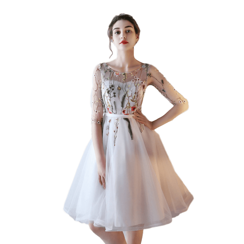 special buy online store 2019 professional Lace Up Homecoming Prom Semi Formal Short Princess Ivory Dress