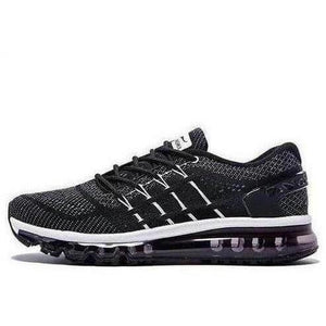 Lightweight Breathable Running Shoes Black Outdoor Trainers-Sneakers-Sour Grapes Online-Black-4-