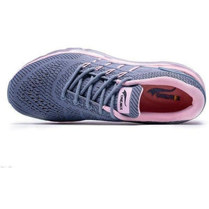 Lightweight Breathable Running Shoes Pink Outdoor Trainers-Sneakers-Sour Grapes Online-Grey Pink-3.5-