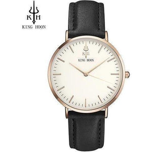Luxury Quartz Ultra Thin Wrist Watches for Women-Watch-Sour Grapes Online-BLACK ROSE WHITE-