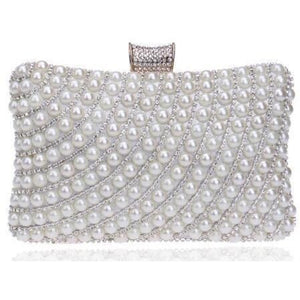 Metal Diamonds Pearl Rhinestones Beaded Women Clutch Bag-Clutch-Sour Grapes Online-Style 1-