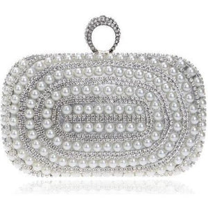 Metal Diamonds Pearl Rhinestones Beaded Women Clutch Bag-Clutch-Sour Grapes Online-Style 2-