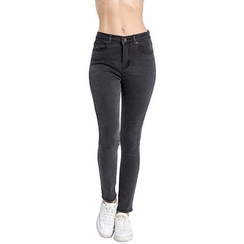 beautiful style attractive colour amazon Mom Fit Elastic High Waist Denim Skinny Jeans