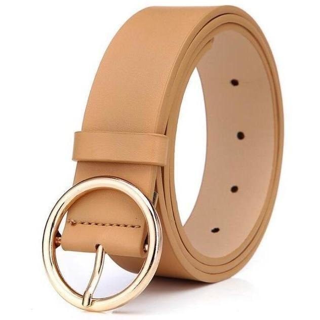New 2017 womens belts luxury high quality genuine leather belts for women Pin buckle brand belt ceinture homme-Belt-Sour Grapes Online-Champagne-105cm-