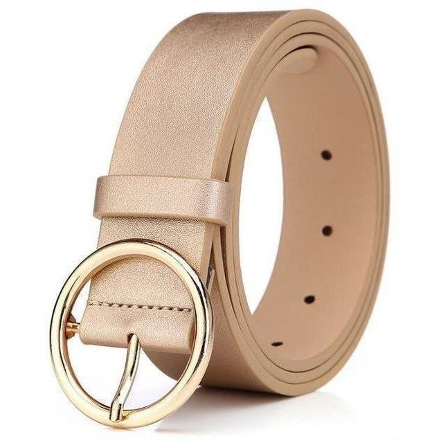 New 2017 womens belts luxury high quality genuine leather belts for women Pin buckle brand belt ceinture homme-Belt-Sour Grapes Online-Gold-105cm-