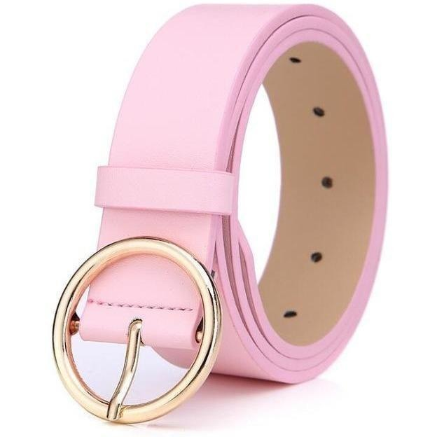 New 2017 womens belts luxury high quality genuine leather belts for women Pin buckle brand belt ceinture homme-Belt-Sour Grapes Online-Pink-105cm-