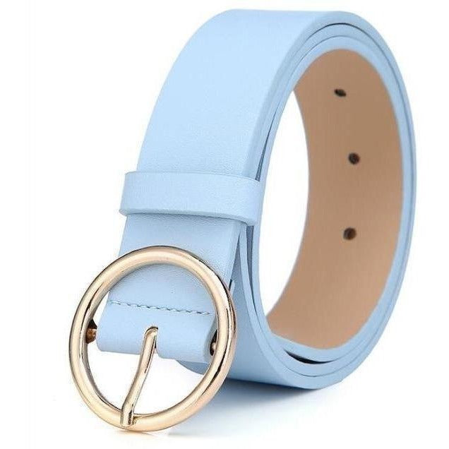 New 2017 womens belts luxury high quality genuine leather belts for women Pin buckle brand belt ceinture homme-Belt-Sour Grapes Online-Sky Blue-105cm-