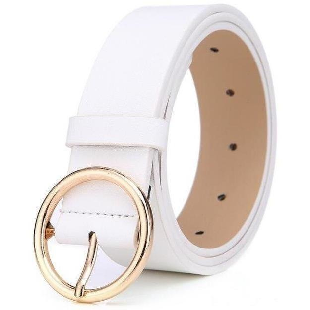 New 2017 womens belts luxury high quality genuine leather belts for women Pin buckle brand belt ceinture homme-Belt-Sour Grapes Online-White-105cm-