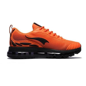 Onemix Lightweight Breathable Running Outdoor Orange Black Trainers-Sneakers-Sour Grapes Online-Orange Black-3.5-