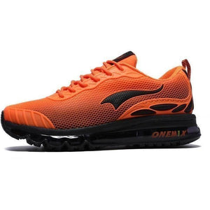 Onemix Lightweight Breathable Running Outdoor Orange Black Trainers-Sneakers-Sour Grapes Online-Orange Black-4-