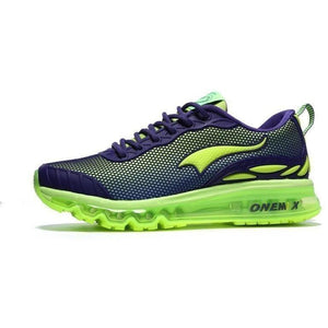Onemix Lightweight Breathable Running Outdoor Purple Green Trainers-Sneakers-Sour Grapes Online-Purple Green-3.5-