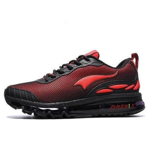 Onemix Lightweight Breathable Running Outdoor Red Black Trainers-Sneakers-Sour Grapes Online-Red Black-4-
