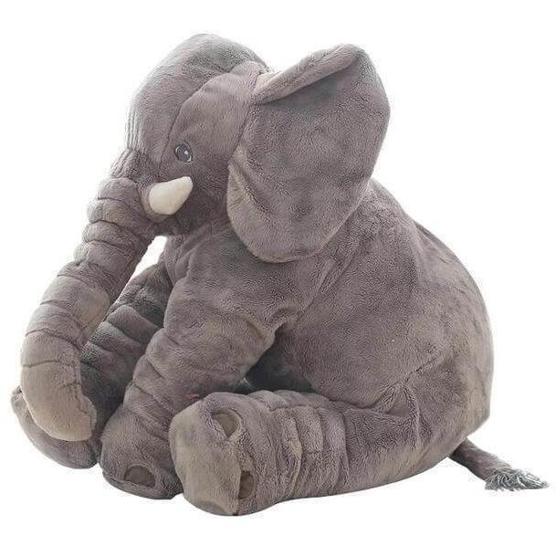 Personalized Big Cute Stuffed Elephant Pillow for Baby-Gifts-Sour Grapes Online-DimGrey-40cm-