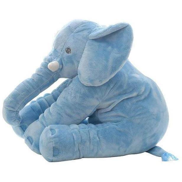 Personalized Big Cute Stuffed Elephant Pillow for Baby-Gifts-Sour Grapes Online-SkyBlue-40cm-