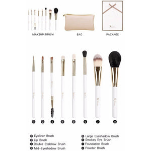 Professional Nature Bristle Makeup Brushes Set With Leather Bag-MakeUp Brushes-Sour Grapes Online-