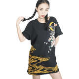 Punk Funk Rock Embroidery T-Shirt Women Top Tee-Top-Sour Grapes Online-M-Black-