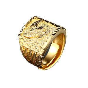 Punk Rock Eagle Gold Color Resizeable Ring-Jewellery-Sour Grapes Online-