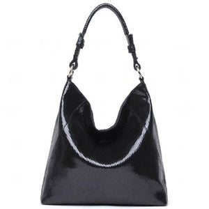 Serpentine Hobo Shoulder Bags Genuine Leather Handbags For Women