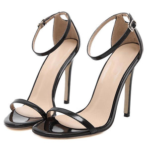 SG Buckle Strap Stilettos High Heels Sandals Wedding Shoes