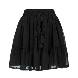 SG Casual Polka Dot Mini Skirt High Waist A-Line Summer Women Skirts