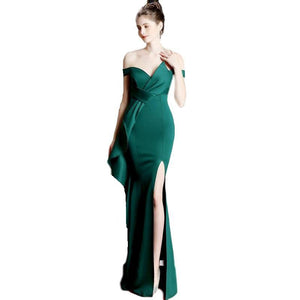 SG Mermaid Split Elastic Long Prom Dress Plus Size Party Dresses For Women