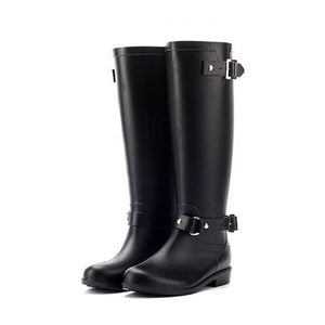 SG Punk Style Tall Boots Outdoor Water Shoes Women's Rubber Rain Boots