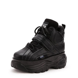 SG Retro High-Top Height Increasing Thick-soled Boots For Autumn Winter