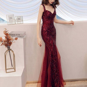SG Sweetheart Sequin Prom Dress Floor Length Mermaid Gown