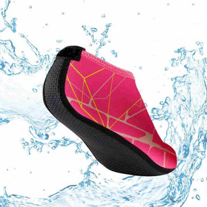 Slip On Aqua Water Shoes for Beach-Flip Flops-Sour Grapes Online-Rose-5-