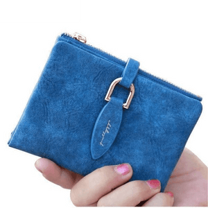 Snap Fastener Short Clutch Ladies Fashion Coin Holder Matte Wallets-Wallet-Sour Grapes Online-Dark Blue-