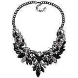 Spring Colorful Crystal Necklace-Necklaces-Sour Grapes Online-Black 2-