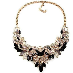Spring Colorful Crystal Necklace-Necklaces-Sour Grapes Online-Black-