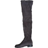 Stretch Suede Over the Knee Boots Thigh High Flat Plus Size Shoes-Shoes-Sour Grapes Online-Dark Grey-5-