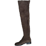 Stretch Suede Over the Knee Boots Thigh High Flat Plus Size Shoes-Shoes-Sour Grapes Online-Mud-5-