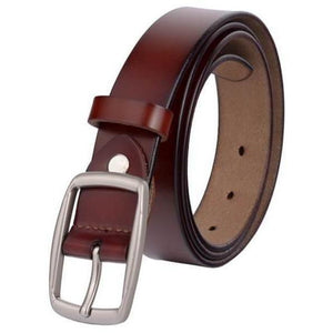 Vintage Designer Fashion Leather Belt for Women - 4 colors-Belt-Sour Grapes Online-Wine Red-95cm-