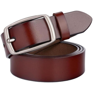 Vintage Designer Fashion Leather Belt for Women - 4 colors-Belt-Sour Grapes Online-Wine Red-100cm-