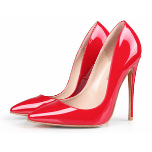 Woman High Heels Trendy Red Shoes Fashion Stilettos-Stilettos-Sour Grapes Online-Red-12 cm-5