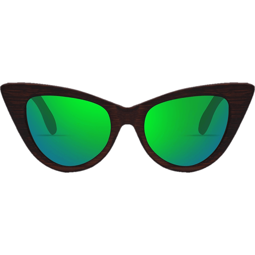Women Bamboo Frame Polarized Wooden Cat Eye Sunglasses-Shades-Sour Grapes Online-Green-
