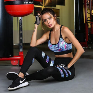 Women Bra And Leggings Gym And Yoga Set-Legging-Sour Grapes Online-Black-L-