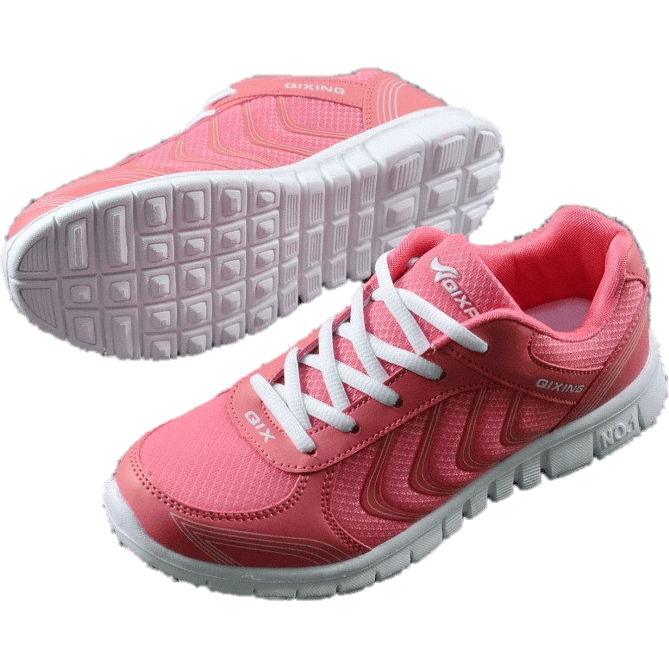 Women Casual Fashion Breathable Mesh Flat Sneaker Shoes-Sneakers-Sour Grapes Online-Rose-4.5-